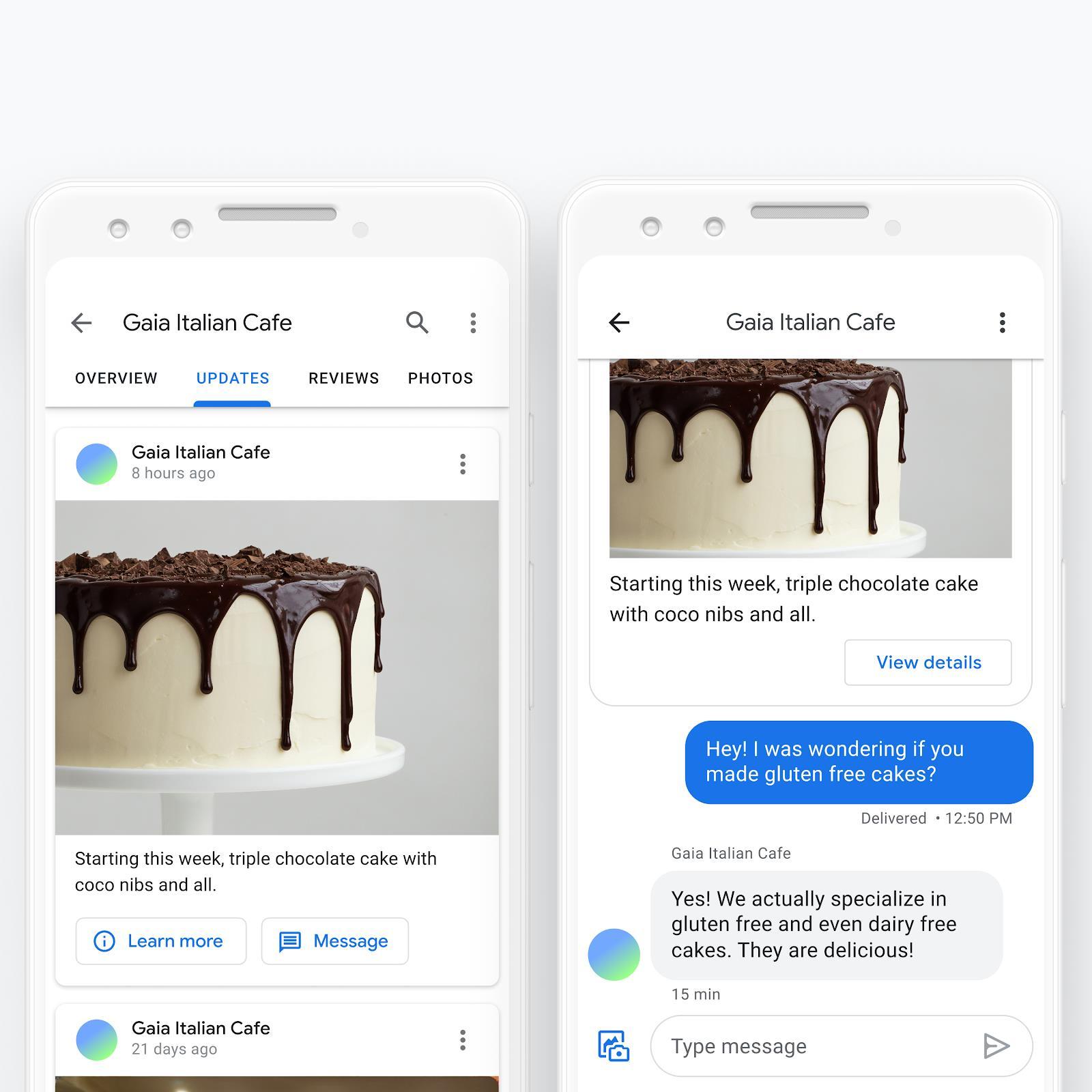 Google: теперь с покупателями можно общаться прямо в Google Картах и Поиске