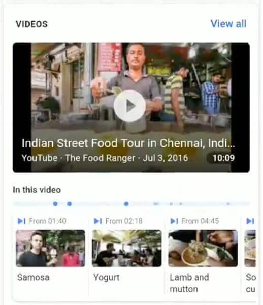 Google тестирует функцию «В этом видео»