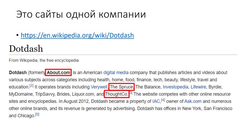 Информация о сайте из Википедии
