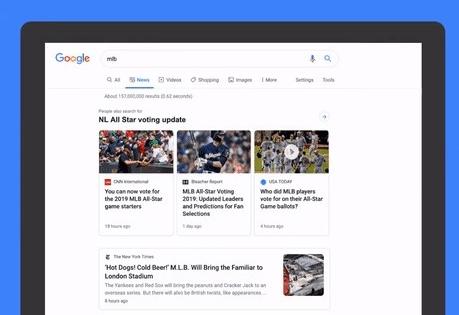 Google обновил дизайн «Новостей» на десктопах