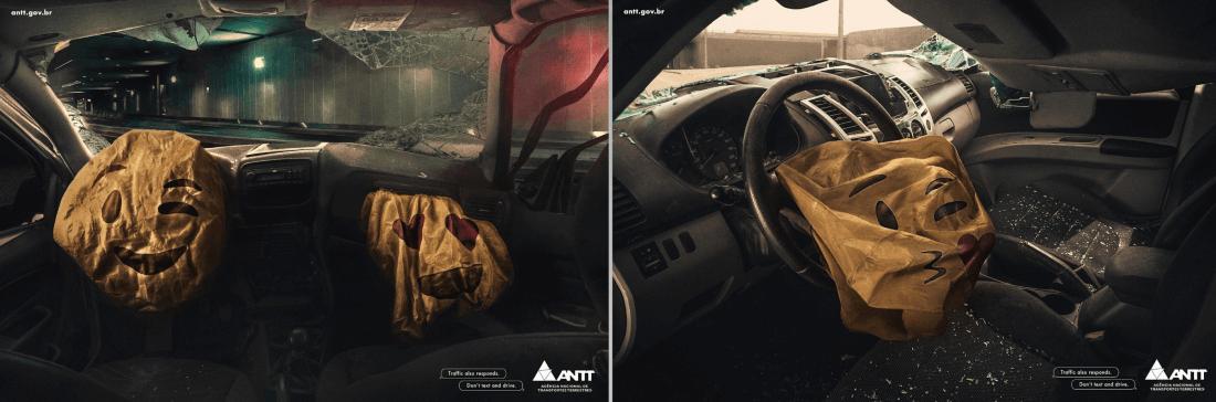Пример социальной рекламы о безопасности дорожного движения