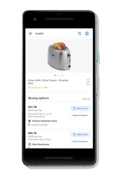 Google обнулит комиссии продавцам, чьи товары можно купить прямо из поиска