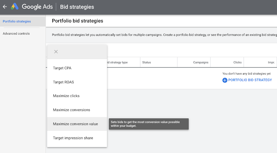 Google Ads запустил новые опции в пакетной стратегии назначения ставок
