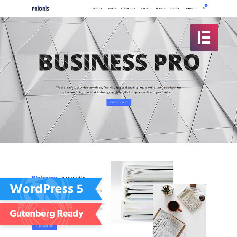 WordPress-шаблон Prioris