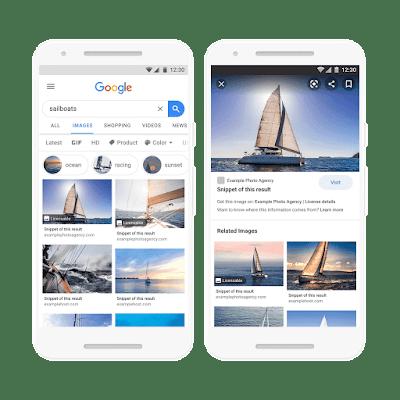 Google начал помечать лицензируемые изображения в поиске по Картинкам
