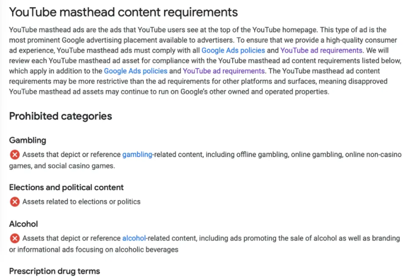 New YouTube requirements