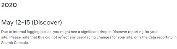 Google Search Console сообщил о сбое в отчете по ленте Discover
