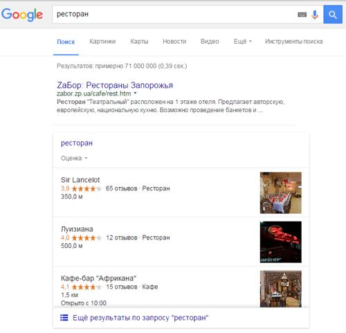 Google вновь добавил номера телефонов в блок результатов локального поиска